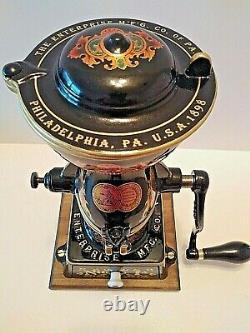 Enterprise MFG Company No. 1 Coffee Grinder Mill Old Antique Vintage Circa 1898