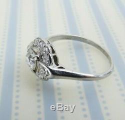 Estate Antique Platinum. 86 cwt old European cut diamond ring