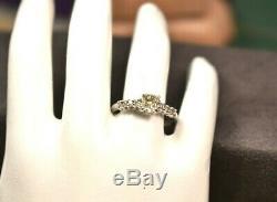 Estate antique vintage platinum ring w. 52 ct old mine cut oval diamond center