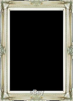 Frame 24x36 Vintage Style Old Silver Ornate Picture Oil Painting Frame 568-2
