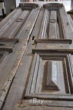 French Doors Old Antique Vintage Tall Narrow Mahogany