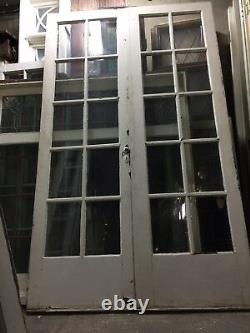 French Doors Old antique vintage 79 X 24 10 Light