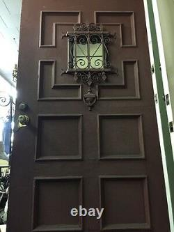 Front door Old Antique Vintage Spanish Revival 42 Winch With Rare Banded Iron