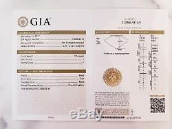 GIA 18K Antique Art Deco 3 Stone Old European engagement Diamond Engraved Ring
