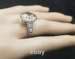 GIA 9.13ct Platinum Vintage engagement ring Round old euro cut Diamond VVS2