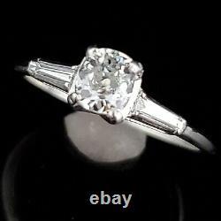 GIA G/ VS2 Old Mine Cut Diamond Platinum Ring Engagement Vintage Estate Gift