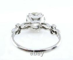 Gia 2.30ct Antique Vintage Old European Cut Diamond Engagement Wedding Ring Pt