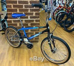 Haro 1988 Vintage Sport Custom Build Old School BMX Bike Blue/Black/Chrome