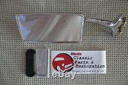 Hot Rat Street Rod Custom Long Curved Arm Vintage Outside Rectangle Peep Mirror