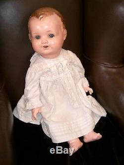 Large OLD Vintage Composition German jointed Baby doll sleepy sleeping eyes