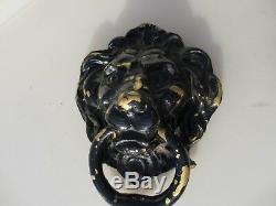 Large Vintage Brass Lion Door Knocker Lions Antique Old Mansion Manor Gate 8W