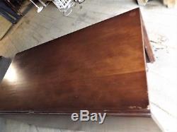 Large Vintage Walnut Drop Leaf Gate Leg Table, Nice Old Furniture