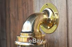 Nautical Wall Light Vintage Retro Cage Bulkhead Old Brass Ship Lamp industrial