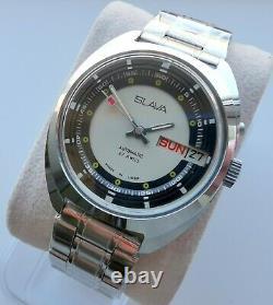 New Automatic Old Stock Slava 2427 Double Calendar Russian Watch Ultra Rare