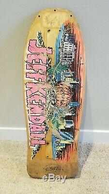 OG 87 Santa Cruz Jeff Kendall rare old school skateboard deck
