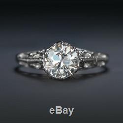 OLD EUROPEAN CUT. 78ct DIAMOND G SI2 ENGAGEMENT RING VINTAGE ANTIQUE 3/4 CARAT