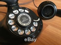 OLD VTG ANTIQUE WESTERN ELECTRIC E1 1920s ROTARY DIAL PHONE ART DECO RINGER BOX
