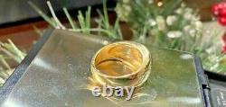 Old European Cut Diamond Gypsy Ring Estate Bezel Antique Videos Mens Unisex