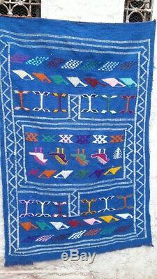 Old Vintage Handmade Rug Moroccan Rug Azilal Rug Berber rug