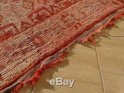 Old Vintage Moroccan Handmade Berber Rug Berber Carpet Wool Rug 11'5 x 5'6'