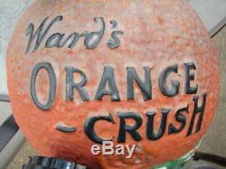 Old Vintage Ward's Orange Crush Syrup Soda Fountain Dispenser Rare Antique 1919