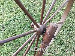 Old Vtg Antique Wood Original Primitive Textile Wool Thread Maker Spinning Wheel