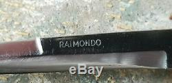 Old antique Italy folding knife Frosolone vintage Raimondo Spring Rostfrei
