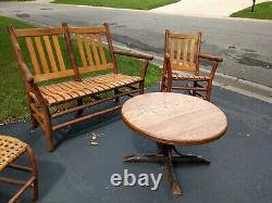 Old hickory Adirondack rustic bar stools porch camp furniture dresser table beds