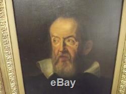 Original 1624 Galileo Galilei Antique Old Master Oil Painting Justus Sustermans