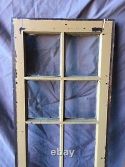 Pair Antique 6 Lite Casement Door Window Cabinet 16X54 Vintage Old 255-18C