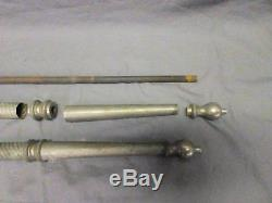 Pair Nickel Brass Sink Legs Support Old Marble Vtg Bath Console 26 691-17P