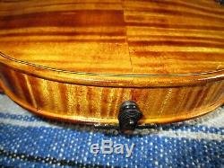 Rare Ugly Old Antique 1900 Vintage Italian 4/4 Violin GREAT Condition/Sound