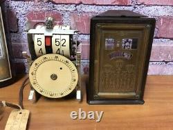 Rare Vtg Ge-telechron Cyclometer-old Flip-digital Wandering Seconds Motion Clock