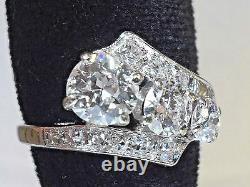 SUPERB Antique Old European Cut & Old Mine Cut VS2/F Diamond Solitaire Ring 14kt