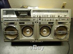 Sharp Gf-777z Old School Boom Box Ghetto Blaster! Rare Vintage Antique Radio