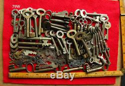 Skeleton Keys 100+ Old Antique Vintage Lot Set Collection Wholesale Iron Padlock