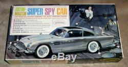 VINTAGE 55 year old AURORA Aston Martin 007 Super Spy car 100% & unbuilt