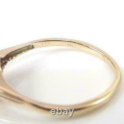 VTG Antique Victorian 0.50ct Old Rose Cut Diamond 14K Yellow Gold Ring LHL3