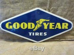 Vintage 1964 Goodyear Tires Sign Antique Old Garage Service Station Nice 9792