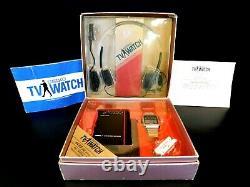 Vintage 1982 Antique Old Seiko T001 James Bond Wrist Watch Television Screen