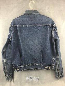 Vintage 50s-60s Type 2 507xx Levis Denim Jacket Vtg Rare Type II Authentic Old