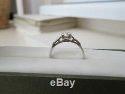 Vintage Antique 18ct White Gold & Platinum. 59ct Old Cut Diamond Solitaire Ring