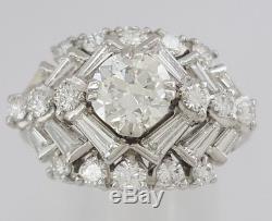Vintage / Antique 2.58 ct Platinum Old European Cut Diamond Engagement Ring GIA