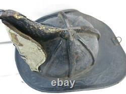 Vintage Antique Cairns Leather Fire Helmet APFD On Shield Very Old Helmet