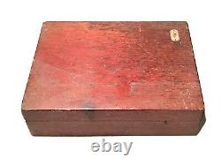 Vintage Antique Watch Maker Swiss Favorite Jeweling Tool Original Wood Box Old