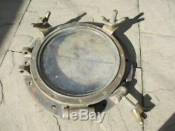 Vintage Brass Porthole Window Ship Boat Nautical Antique Maritime Old 18W
