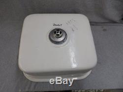 Vintage Ceramic Pottery White Kitchen Sink Basin Old Standard Plumbing 1290-16