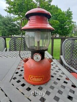 Vintage Coleman 200a Single Mantel Black Band Dated 2 52 Old Red Lantern