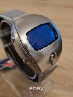Vintage Digital LCD Watch Alba Spoon Blow W671 Module New Old Stock Mint