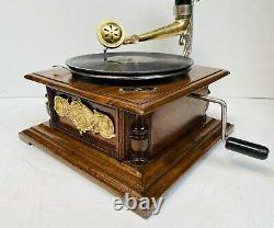 Vintage HMV Antique Old Machine Wooden Collectible Gramophone / Phonograph BG 03